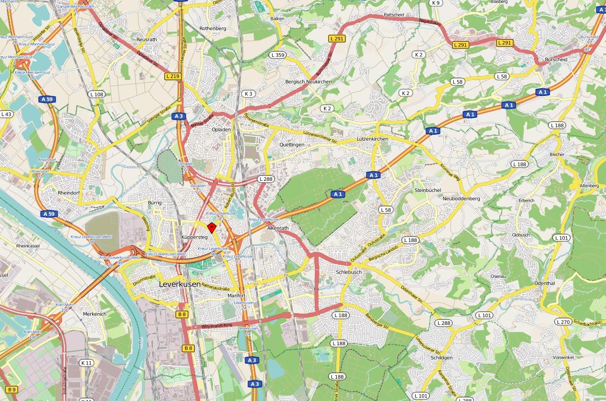 Karte Schlusseldienst Leverkusen